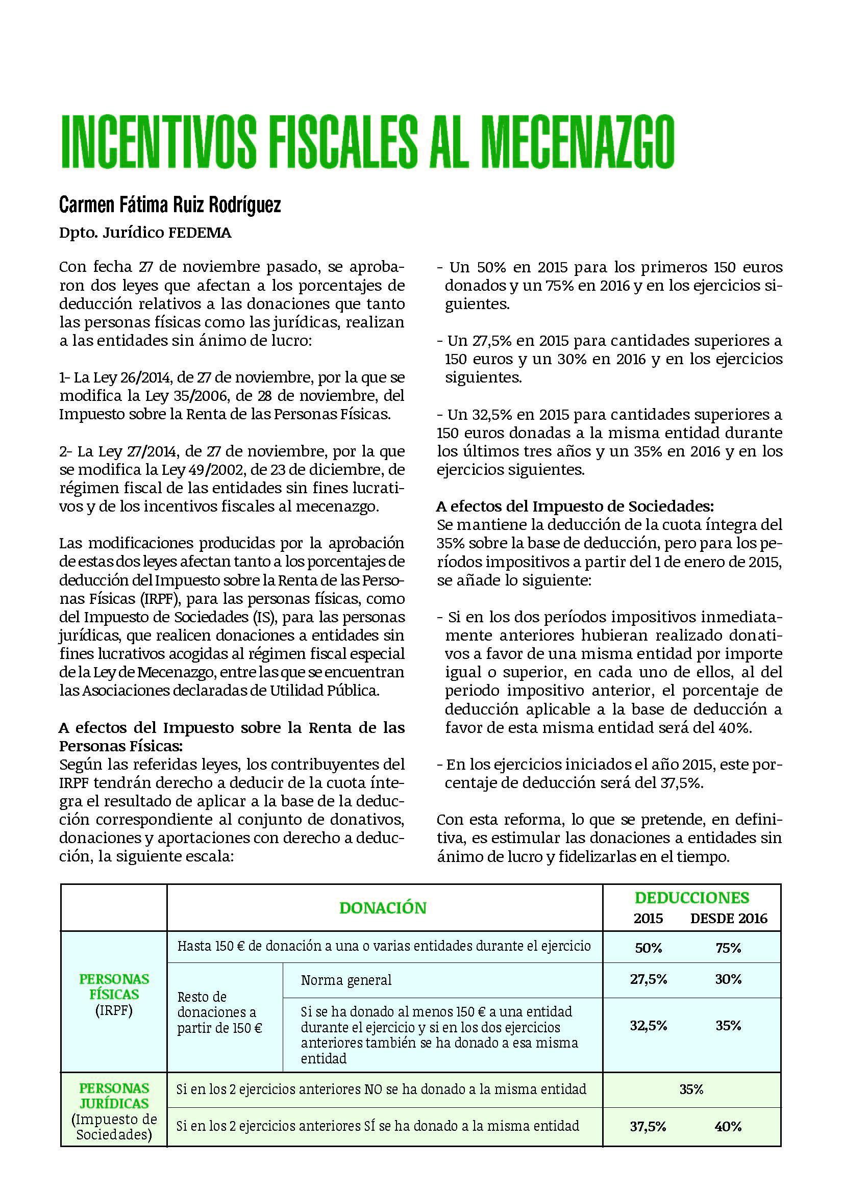 Incentivos fiscales de mecenazgo