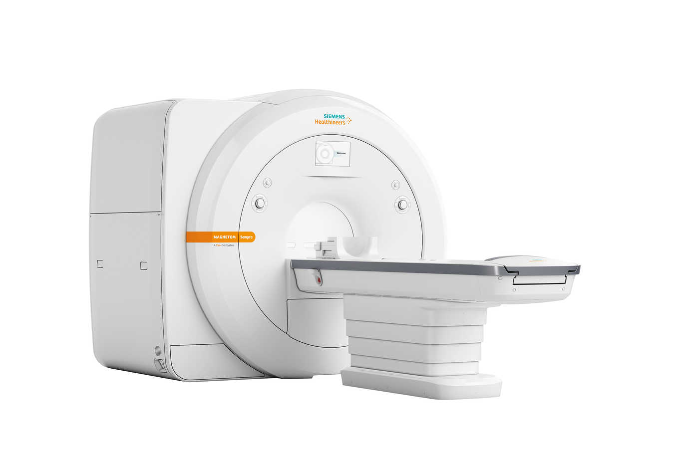 Um die Wettbewerbsfähigkeit seiner Bildgebungskunden zu stärken, präsentiert Siemens Healthineers auf dem RSNA 2016 eine neuen, besonders wirtschaftlichen Magnetresonanztomographen (MRT): Dank niedriger Betriebskosten, innovativer Technologien und eines integrierten Siemens-Healthineers-Service-Konzepts erlaubt es der 1,5-Tesla-MRT-Scanner Magnetom Sempra radiologischen Praxen und Verbünden, kleinen und mittleren Krankenhäusern trotz des wachsenden Kostendrucks in der Branche profitabel zu arbeiten und gleichzeitig mit Hilfe standardisierter Arbeitsabläufe anwenderunabhängig eine konsistente Qualität zu erzielen. In order to help its imaging customers become more competitive, Siemens Healthineers presents a new and particularly cost-efficient MRI scanner at the 2016 RSNA in Chicago. Thanks to low operating costs, innovative technologies, and an integrated Siemens Healthineers service concept, the 1.5 Tesla Magnetom Sempra1 MRI scanner will allow radiological practices and groups, as well as small and medium-sized hospitals to work profitably despite growing cost pressure in the industry. Additionally, its standardized workflows will help institutions achieve consistent, user-independent quality. 1 510(k) pending.