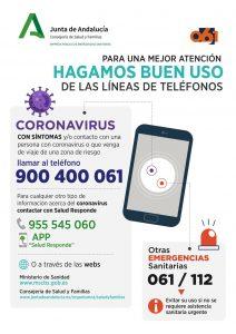 Teléfonos de atención sobre coronavirus