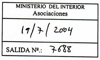 Registro de salida nº 7688 de 19/7/2007 del Ministerio del Interior