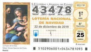 Lotería de Navidad - 43478 y 74885