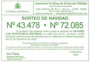 Lotería de Navidad de ASEM - 43478 y 72085