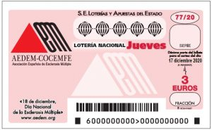 Lotería Nacional dedicada a AEDEM - 17 de diciembre