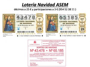 43478 - 65185 - LOTERÍA DE NAVIDAD DE ASEM