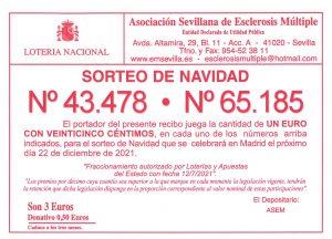 Ya tenemos nuestra LOTERÍA DE NAVIDAD - 43478 - 65185